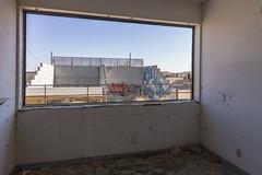 Racquetball courts. Abandoned Boron Federal Prison. (slworking2) Tags: us boronfederalprison boron california unitedstates abandoned urbex urbanexploration decay airforce minimumsecurity