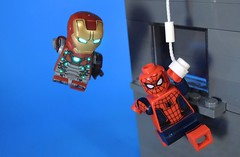 Homecoming Teamup (MrKjito) Tags: lego minifg super hero comics comic marvel cinematic universe movie iron man spider homecoming tony stark new york peter parker
