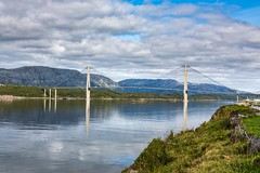 Helgelandsbrua (Einar Schioth) Tags: helgelandsbrua bridge sea sky day summer canon clouds cloud coast shore nationalgeographic ngc norway norge nature nordland helgeland helgelandskysten mountains mountain mirrors landscape photo picture outdoor einarschioth