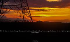 Good evening !!! (vomm_aviationpictures) Tags: sun sunset nature photo photography canon orange black silhouette train journey 3rdac