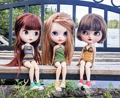 Nice weekend at the cabin 😊❤☀️🚣♀️🎣🏡🌲 (Dolliina) Tags: blythe jeccifive jecci5 doll pureneemo crochet