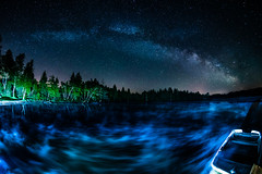 And Boat lies waiting still your Clouds all flaming (*Capture the Moment* (back 4 September)) Tags: 2017 f28 fisheye kirchsee lakekirchsee milchstrasse milkyway reflection reflections reflexion sonya7m2 sonya7mii sonya7ii sonyilce7m2 walimexpro