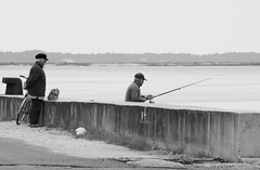 Under supervision (JOAO DE BARROS) Tags: joão barros monochrome people fisherman