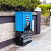 STREET ART - PAINTED CABINET AT ALFI BYRNE ROAD CLONTARF [WELCOME - FAILTE]-131587