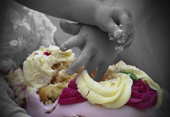cake smash (5imon87) Tags: cakesmash cake smash fun mess messy birthday food nikon nikond60 nikond6o hands young celabration party focal focus 70300mm sticky sweet icing confectionary eat sugar happy bash handfull