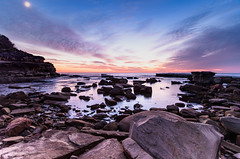 Rocky Daybreak Seascape (Merrillie) Tags: daybreak landscape nature rocky terrigal sunrise centralcoast earlymornings newsouthwales rocks earlymorning nsw water sea scenery clouds travel coastal scenic dawn theskillion seascape skillion coast waterscape australia