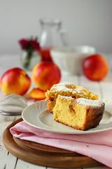 Torta soffice (stgio) Tags: tortadipesche cake dolce colazione merenda pausa dolci dolcidifrutta frutta