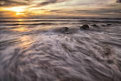 Sunset LE-5 (HardBreakKid) Tags: landscape brunei muara meragang sunset water rocks sky clouds long exposure bruneimuaradistrict