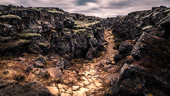 Pingvallavatn - Iceland - Landscape photography (Giuseppe Milo (www.pixael.com)) Tags: color iceland hike path landscape tv travel nature hiking clouds sky outdoor gameofthrones got valley rocks southernregion is onsale