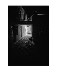 """Nocturnal"" (Leica MP, Kodak Tri-X @400) (Perilouc) Tags: bw paros night leica analog film kodak kodaktrix"
