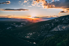 Sunset (doelemanrobert) Tags: fuji fujifilm ardeche france 1024 8mm fisheye blog 1855 landscape sunset sun dark night evening blue thunder lightning views
