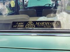 1975 HUMBER 1725cc SCEPTRE HFN884N (Midlands Vehicle Photographer.) Tags: 1975 humber 1725cc sceptre hfn884n dealers decal sticker marshalls audi oxford road tilehurst reading