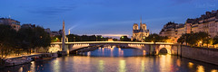 Pont de la Tournelle (David Briard) Tags: ancien ancient arbres architecture banksoftheseine bleu blue bluehour bridge building bã¢timent cathedral church city cityscape dusk eau eglise eiffeltower evening fleuve fleuveseine gold heritage heurebleue historic historical historique history illuminated illuminã© landscape medieval night notredame nuit old or panorama panoramic panoramique paysage pont pontdelatournelle river riverseine rivesdelaseine soir toureiffel trees unescoworldheritagesite urbain urban water cathédrale crépuscule unesco explored