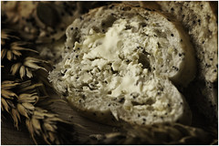 Macro Mondays - Bread - Seeded Bread Roll (in Explore 22 Aug 2017) (andymoore732) Tags: macromondays macro mondays bread roll seeded poppyseeds wheat wheatear butter butteredbread tasty artificiallight bowens andymoore colour nikon d500 afs vr micronikkor 105mm f28gifed challenge theme flickr