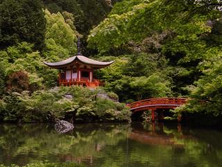 Shrine on the lake