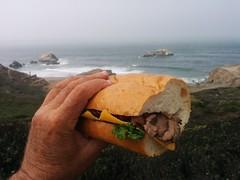 sandwich (Jef Poskanzer) Tags: sandwich roastbeef sutrobaths fog geotagged geo:lat=3778037 geo:lon=12251195