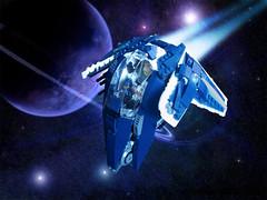 Firespray-53 (Freddyk44) Tags: lego moc space ship spaceship starfighter star wars firespray slave one commander
