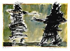 Wolfram Zimmer: Wrangle - Streit (ein_quadratmeter) Tags: wolframzimmer bilder kunst malerei gemälde wolfram zimmer konzeptkunst objektkunst mein freiburg burg birkenhof kirchzarten ausstellung ausstellungen peinture exhibition exhibitions zeichnung tusche besen ink broom besom