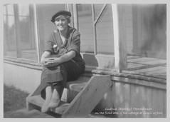 1922 Rooney on the front porch at Gimli FINAL (arbutushilldesign) Tags: gimli
