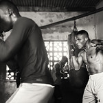 Ghana, boxer in a boxing gym thumbnail
