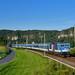 371 001, Rathen by Manuel Schmid - Für den EC 177 positionierte ich mich wieder in Rathen - 371 001 gab sich die Ehre an dem Zug nach Prag.