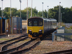 150120 Exeter TMD (Marky7890) Tags: gwr 150120 class150 sprinter exetertmd railway train