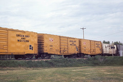 GB&W freight cars passing thru Dodge WI on 5-22-76 (LE_Irvin) Tags: dodgewi gbw