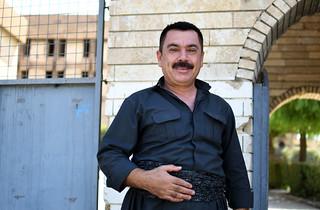Local man outside Amna Suraka museum, Sulaymaniyah / Iraqi Kurdistan