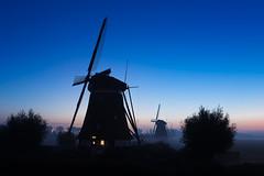 20151002-Canon EOS 6D-6869 (Bartek Rozanski) Tags: zevenhuizen zuidholland netherlands night windmill greenheart groenehart polder grondzeiler blue sky holland dutch