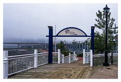 Harbour Passage/Passage Du Port (Timothy Valentine) Tags: 2017 0817 vacation fog gateway sign harbourpassagepassageduport saintjohn newbrunswick canada ca