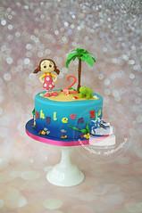 Girl On Island Cake (toertlifee) Tags: törtlifee girl cake birthday geburtstag palme schildkröte turtle island kuchen underwater unterwasser kindertorte happybirthday torte kids birthdaycake geburtstagstorte baby