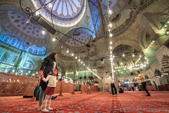 Interior View Of Blue Mosque, Istanbul, Turkey (Feng Wei Photography) Tags: ancient night traveldestinations spirituality landmark eastasia turkeymiddleeast religion famousplace beautiful travel outdoors horizontal islamicculture tradition lowangleview islam bluemosque internationallandmark colorimage magnificent dome islamic mosque buildinginterior istanbul ottoman medieval unesco turkish europe history architecture prayerhall turkishculture tourism placeofworship marmara