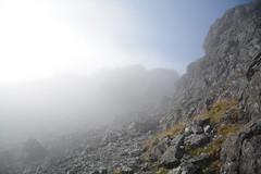 DSC_9387 (nic0704) Tags: scotland hiking walking climbing summit highlands outdoor landscape hill mountain foothill peak mountainside cairn munro mountains skye isle island cuilin cuillin blaven blà bheinn red black elgol