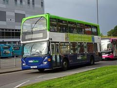 Notts&Derby 8 Bus Station (Guy Arab UF) Tags: nottsampderby 8 yn56fda scania n94ud east lancs omnidekka metrobus 928 derby bus station derbyshire wellglade group buses wellgladegroup
