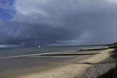 CloudCoast (tiki.thing) Tags: beach rosslare boat ferry clouds blue green sand water sea seaside stones coast light grey ireland wexford outside ocean 7dwf