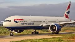 British Airways Boeing B777-300ER G-STBF Bangalore (BLR/VOBL) (Aiel) Tags: britishairways boeing b777 b777300er gstbf bangalore bengaluru canon60d tamron70300vc