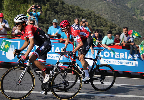 Vuelta stage 18:  Contador and Froome 2757