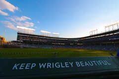 Keep Wrigley Beautiful (dangaken) Tags: chicago chicagoil il illinois windycity cityofbroadshoulders summerinchicago summerinthecity september2017 chitown chi usa midwest lakeview centrallakeview cubs chicagocubs cubsvcardinals stlouiscardinals wrigley wrigleyfield baseball mlb nlcentral pennantrace majorleaguebaseball sport stadium ballpark rivals rivalry chicubs nationalleague sweep wrigleyfieldbleachers bleachercreatures bleachers bleacherseats centerfieldbleachers fans