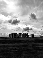 Stonehenge (Deydodoe) Tags: monochrome mono blackandwhite clouds cloud stone historic history ancient wiltshire iphone 2017 unitedkingdom britain greatbritain england monument neolithic druid stonehenge