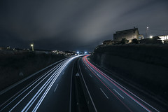 Slow Light (Miguel Esteves Photography) Tags: portugal portugaldenorteasul portuguese lisbon lisboa canon canon50d light lowlight longexposure trails trail landscape cityscape freeway miguelestevesphotography