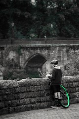 Obsession (leewoods106) Tags: england chester cheshire uk europe green wheel bicycle bridge obsession obsessed socks hobby