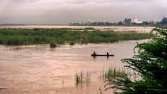 Fishermen on the Mekong, Vientiane, Laos (KSAG Photography) Tags: river mekong vientiane laos city fishing rural asia southeastasia nikon september 2017 tourism landscape sunset travel wide angle wideangle
