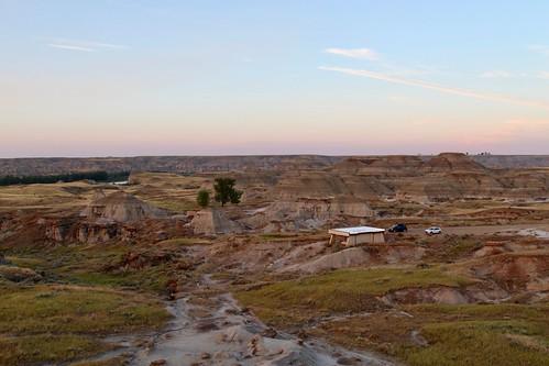 Badlands overlook in sunset #3