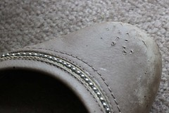 Worn, weathered - & chewed! (Pat's_photos) Tags: old 7daysofshooting week11 shoes wornandweatheredthursday