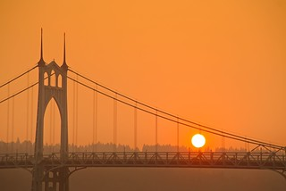 St John's Bridge Smoky Sunset 3557