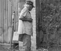 Yielding (Halcon122) Tags: street streetphotography corner candid man bw austin texas