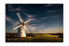 Willo the Wisps (RonnieLMills) Tags: sunset ballycopeland windmill millisle wiilo wisp clouds cows field green grass golden hour county down northern ireland heritage windy miller greatphotographers