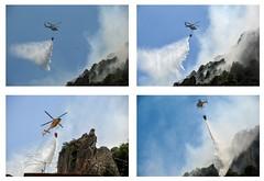 incendio (José E.Egurrola/www.metalcry.com) Tags: es helicoptero agua zaragoza aragon comarcadecalatayud incendio alhamadearagon apagando