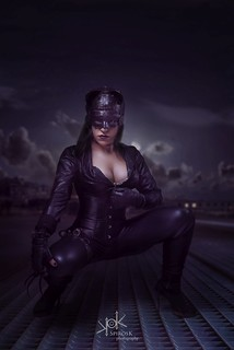 Steampunk Gotham Sirens: Ailiroy as Cat Woman: On the rooftops of Gotham