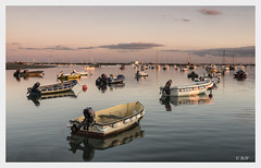 Mersea Island (robert.french57 French Images) Tags: e29 l1000118 mersea island sea seascape sl leica boats reflections sunset sky slow time fishing fish